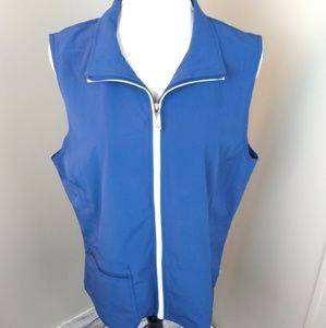 Zynergy by Chico's zip up collared vest size 2